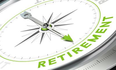 Retirement Plan, Concept Compass Image