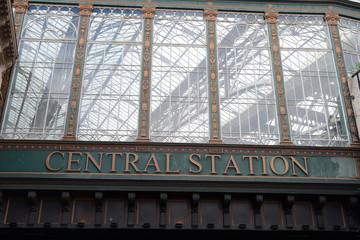 Détail de la gare centrale de Glasgow