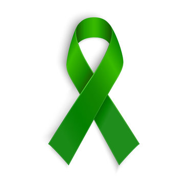 Green ribbon. Scoliosis, Mental health and other awareness