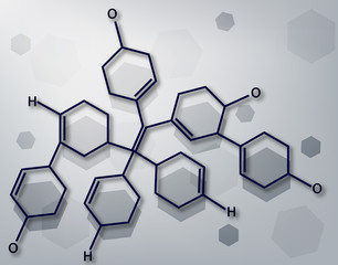background with chemical molecules