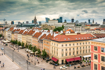 Fototapeta Main fashionable street of Warsaw obraz