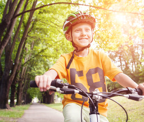 Boy on bicykle
