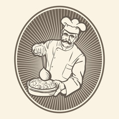 CHEF,COOK ILLUSTRATION VECTOR