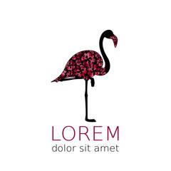 Flamingo silhouette useful for fashion icon. Elegance symbol