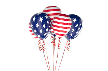 USA patriotic balloons, federal holyday concept