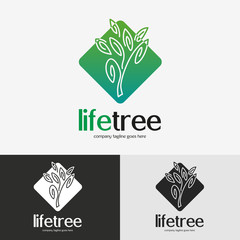 Green tree logo.