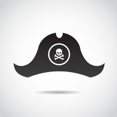 Pirate hat vector icon.