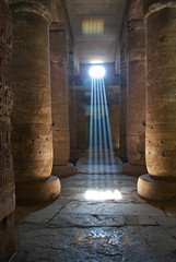 Abydos Mystic lights in pharaonic temple