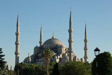 the Blue Mosque (Sultan Ahmet) in Istanbul, Turkey