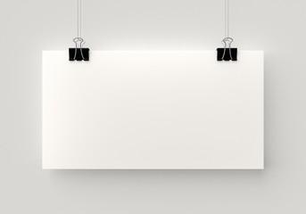 Hanging poster.