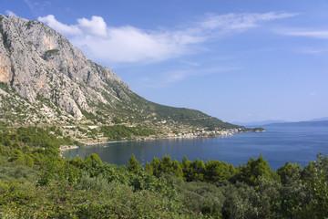 View of Makarska Riviera in Croatia