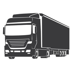 TRUCK SILHOUETTE illustration vector