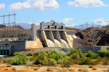 Aluminium Prints Dam Davis Dam located on the Colorado River near Laughlin Nevada