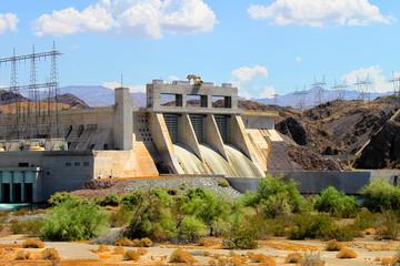 Davis Dam located on the Colorado River near Laughlin Nevada