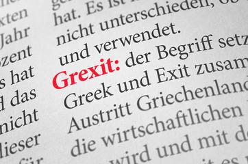 Wörterbuch mit dem Begriff Grexit