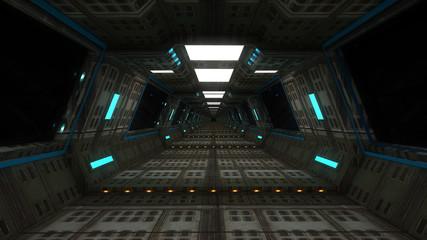Futuristic SCIFI corridor architecture