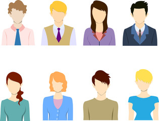Flat business people icon, flat icon,avatar.