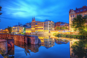 Opole widok miasta nocą