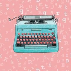 Hand Drawn Typewriter Seamless Design