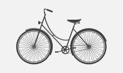 Vintage bike, silhouette