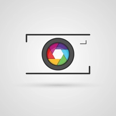 Vector photo camera icon.