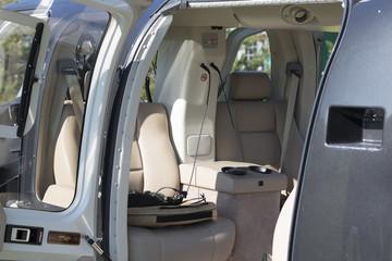 Helicopter interior / interieur d'un Hélicoptere