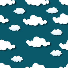 Seamless wallpaper, clouds background. Vector illustration