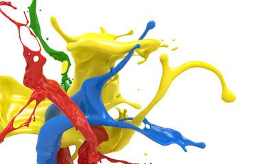 Wall Mural - splashing colors