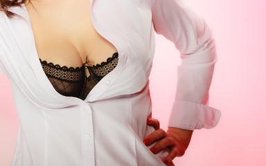 Beautiful breast girls in black bra