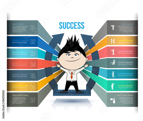 Infographic Ideas infographic template education : Vector business concepts with icons. Can use for infographic, loop ...