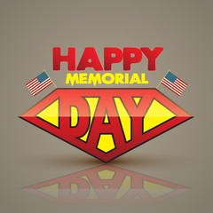 Happy memorial day superman style. Vector illustration. Can use for memorial day card...