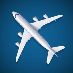 Vector White Airplane
