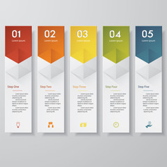 Design clean number banners template/tags or website layout.