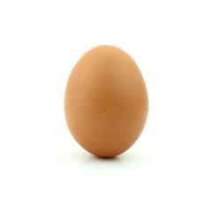raw of egg isolated on white background