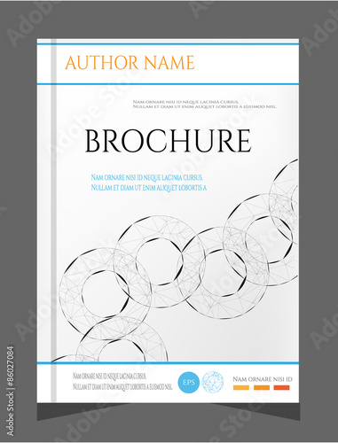 Modern Simple Brochure Report Flyer Template Design With Black