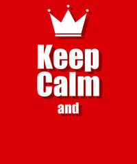 keep calm background red