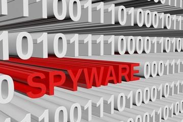 binary code spyware - fototapety na wymiar