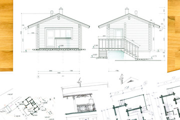 home plan blueprint and drawings