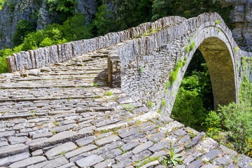 Old stone bridge of Noutsos, Epirus (Greece)
