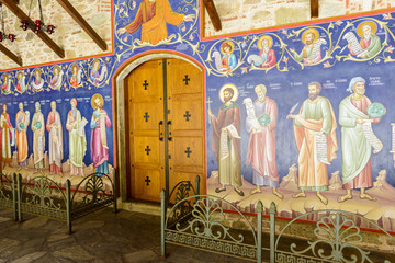 Old painting in the Holy Monastery of the Great Meteoro