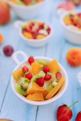 Fruit salad - diet, healthy breakfast, weight loss concept