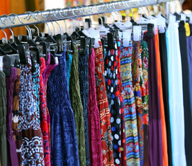 clothes and dresses for women in vintage style for sale at flea