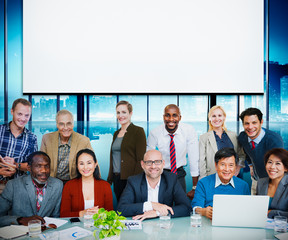 Business People Casual cooperation Cheerful Concept
