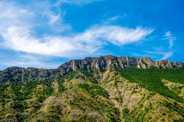 Mountain ridge near Matka canyon in Macedonia