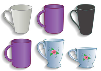 Mug cup for tea and coffee service kitchen