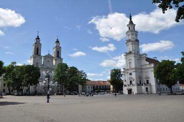 Litwa - Ratusz i Rynek Starego Miasta w Kownie