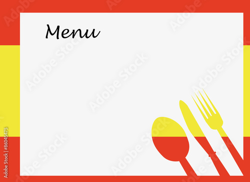 quotspanish menu vector template over flag of spainquot stock