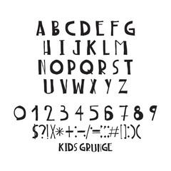 Decorative capital letters, handwritten, basic font composition