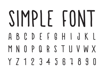 Simple decorative font handwritten