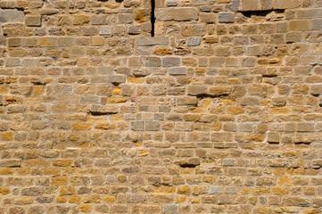 Текстура старинной кирпичной стены крепости.